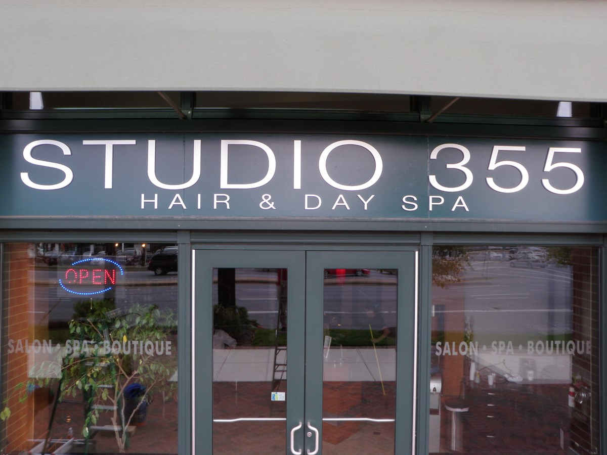 Outdoor Dimensional Lettering for Studio 355 in Bethesda, MD
