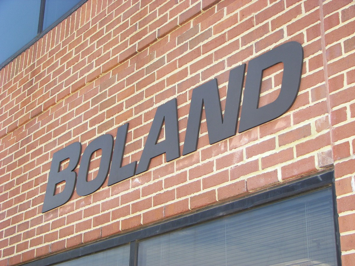 Outdoor Dimensional Lettering on Brick for Boland in Rockville, MD