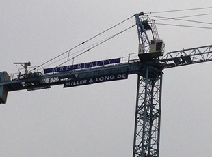 Crane Banners for MRP Realty and Miller & Long DC