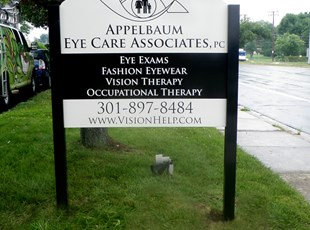 Post and Panel for Appelbaum Eye Care Associates, PC in Rockville, MD