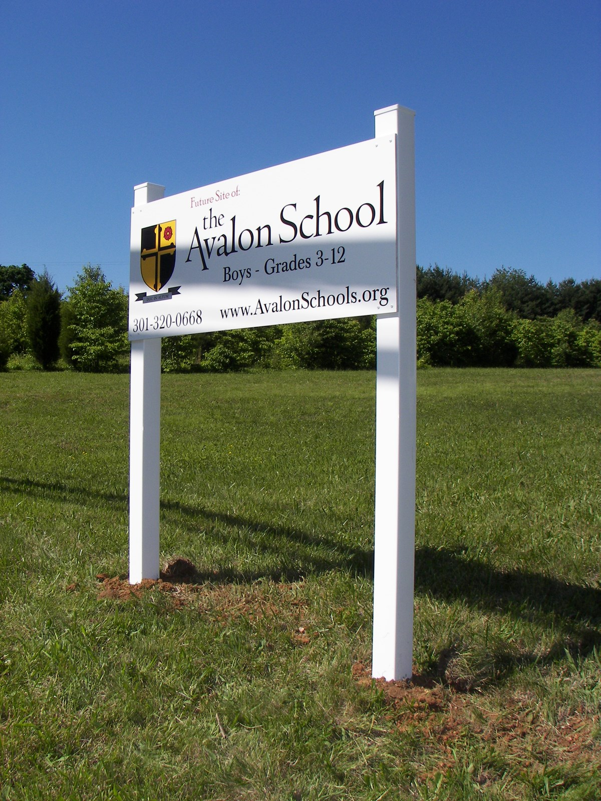 White Post and Panel for The Avalon School in Rockville, MD