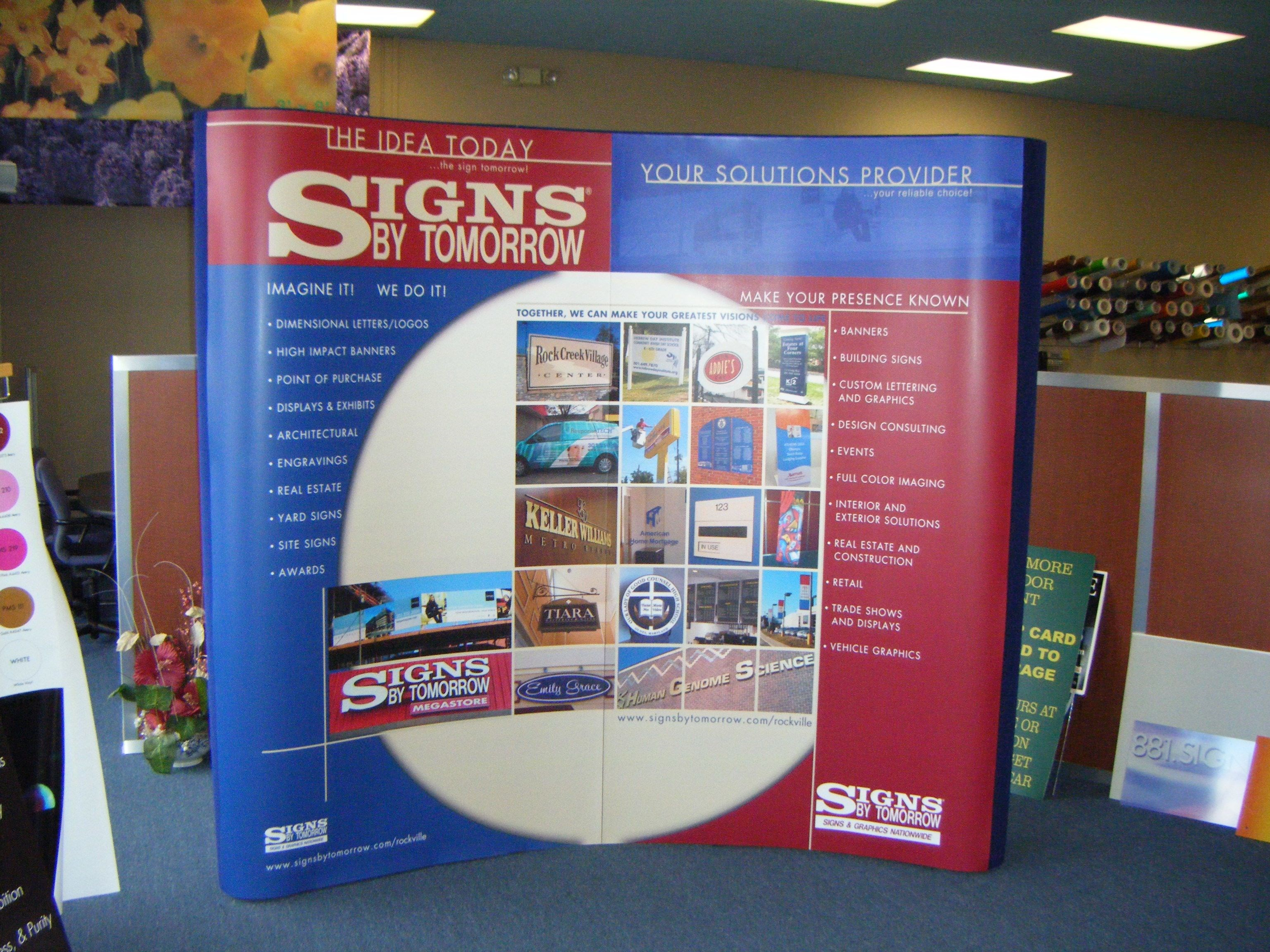 Exhibition Booth Banners : Custom trade show booths signs by tomorrow rockville