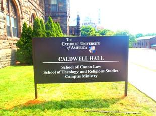 Post & Panel for the Catholic University of America in Washington, DC