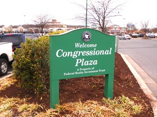 Post and Panel for Federal Realty at Congressional Plaza in Rockville, MD