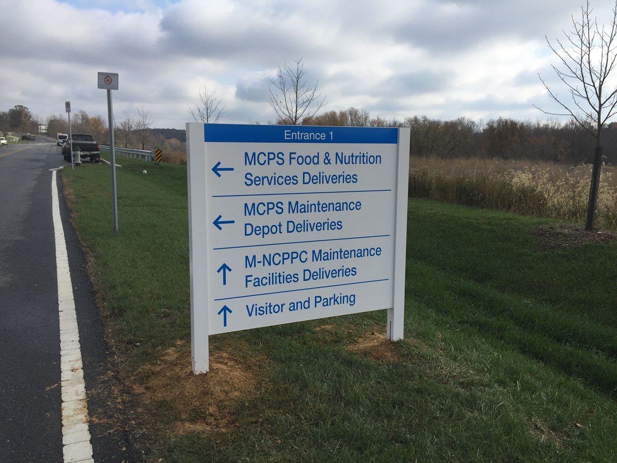 Aluminum Post and Panel signs for MCPS in Montgomery County, MD