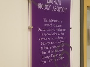 Dedication Plaque for Laboratory at Montgomery College