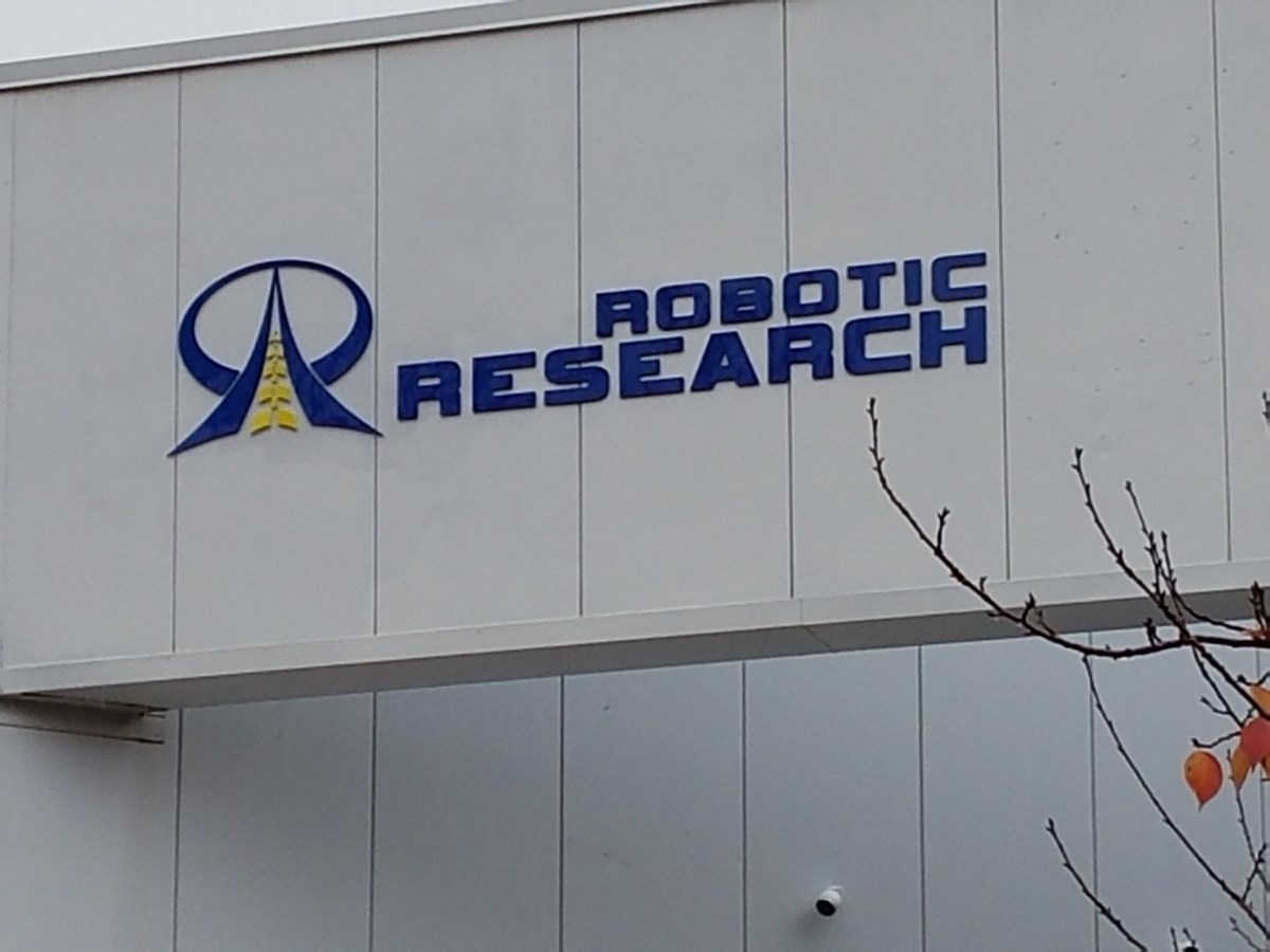 3D Acrylic on exterior wall for Robotic Research in Gaithersburg, MD