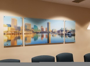 Artwork on Acrylic with Standoffs in Baltimore, MD