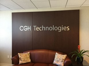 Flat Cut Aluminum Letters for CGH Technologies in Washington, DC