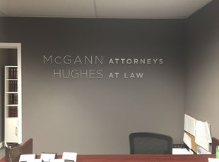 indoor dimensional lettering | lobby & reception Signs | logo sign installed in rockville, md