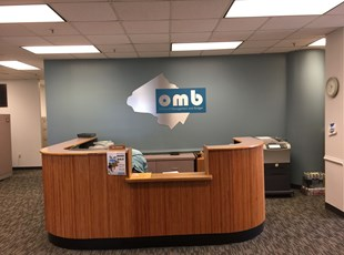 Silver Aluminum Composite Logo sign for Montgomery County Office of Management and Budget