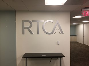 Flat Cut Aluminum Logo for RTCA in Washington, DC
