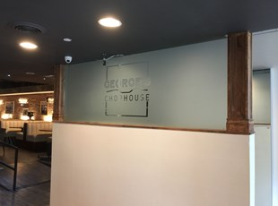 Custom Cut Privacy Film for George's Chophouse in Bethesda, MD