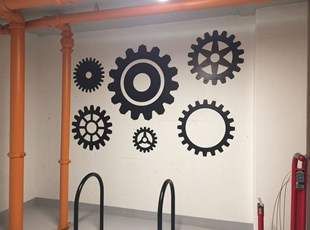 Indoor Vinyl Lettering & Graphics | Wall Coverings | Property Mgmt. | Alexandria, Virginia