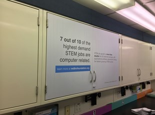 Vinyl Decals on Cabinets for MDBio in Maryland