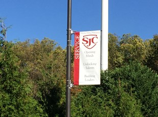 Pole Banner for St. John's College High School in Washington, DC