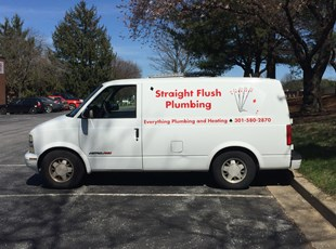 Vehicle Lettering for Straight Flush Plumbing  in Rockville, MD