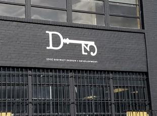Concrete Vinyl graphics for District Design in Washington, DC