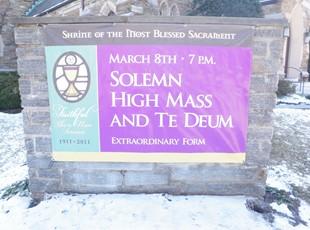 Exterior Banner for Blessed Sacrament