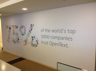 OpenText Informative Wall Graphics