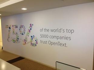 OpenText Informative Wall Graphics
