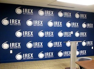 IREX Step & Repeat Logo Wall Graphics