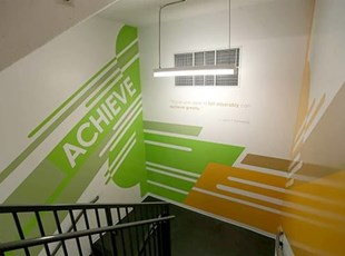 Stairwell Wall Graphics with Inspirational Words