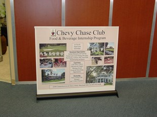Chevy Chase Club Table Top Banner Stand