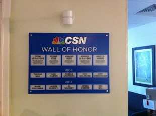 Wall of Fame for Comcast Sportsnet in Bethesda, MD