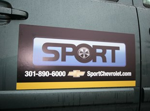 Vehicle Magnet for Sport Chevrolet in Fairland, MD.