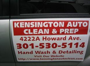 Vehicle Magnet for Kensington Auto Clean & Prep in Kensington, MD.