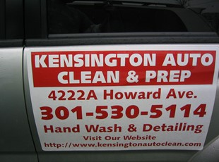 Vehicle Magnet for Kensington Auto Clean & Prep in Kensington, MD.