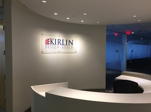 Acrylic with Stand-Offs | Reception & Office Signage | Construction | Rockville, Maryland