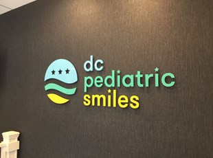 Painted Acrylic Dimensional Lettering for DC Pediatric Smiles