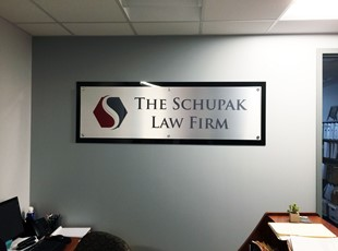 Multi-Layer Dimensional Logo for The Schupak Law Firm