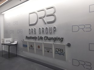Lobby Logo and Floating Panel System