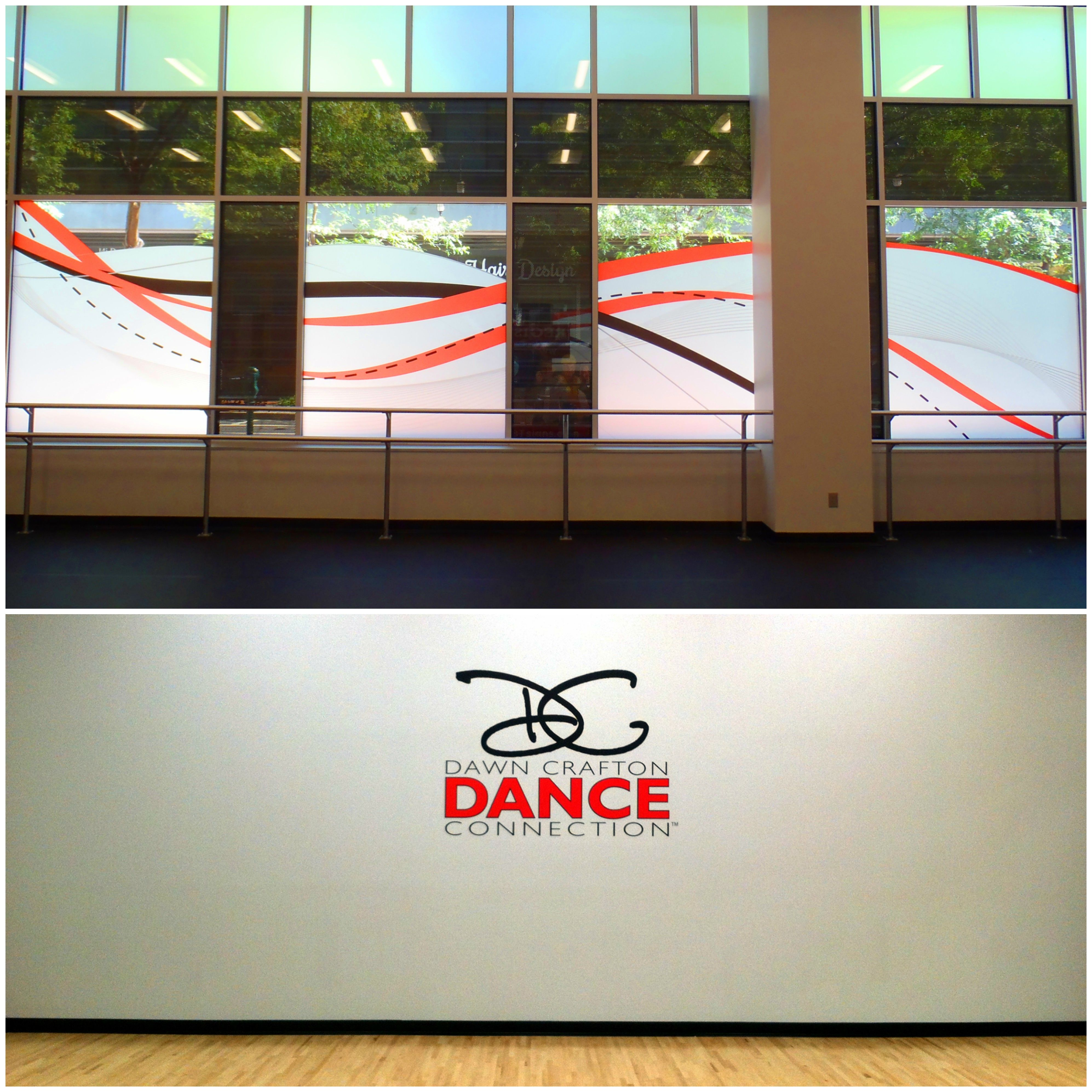 Signs by Tomorrow, Rockville, Dance Studio, Wall Graphic, Window Graphic, Vinyl, DC, Maryland