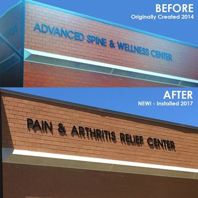 New Signage For the Pain & Arthritis Relief Center