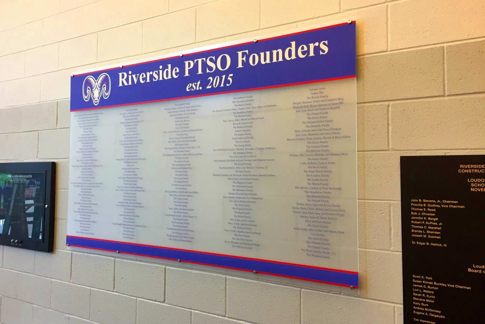Acrylic Donor Wall for Riverside High