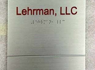 Brushed Silver Metal Suite Sign with Raised Text