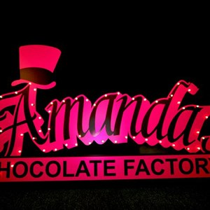 Custom Shape Lit Event Sign - Event by Syzygy Events International