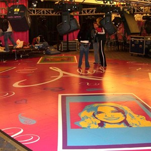 Custom Printed Dance Floor Graphics - Event by Syzygy Events International