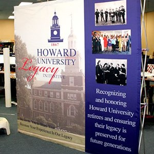 Howard University Fabric Hop Up Display