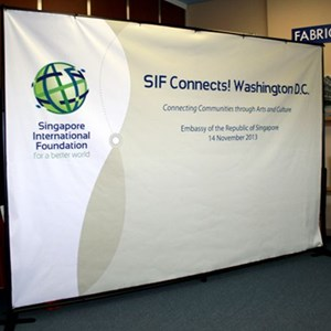 Singapore International Foundation Fabric Backdrop