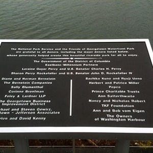 Friends of Georgetown - Waterfront Park - Donor Sign
