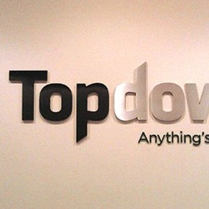 Top Down Systems Lobby Sign
