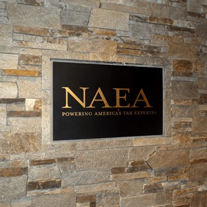 NAEA Aluminum Plaque with Bronze Letters