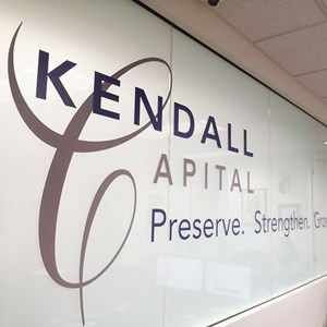 Kendall Capital lobby signage