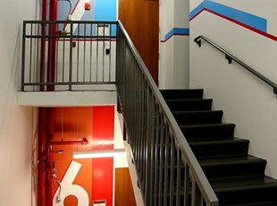 Stairwell Signage - Hitt Contracting