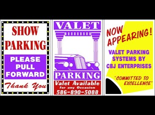 Valet signs for A Frames